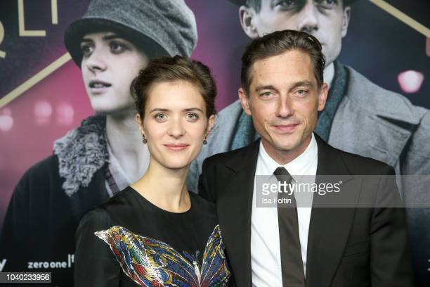 German actress Liv Lisa Fries and German actor Volker Bruch attend the premiere of the film '1929 Das Jahr Babylon' at Delphi Filmpalast on September...