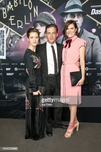 German actress Liv Lisa Fries German actor Volker Bruch and German actress Fritzi Haberlandt attend the premiere of the film '1929 Das Jahr Babylon'...