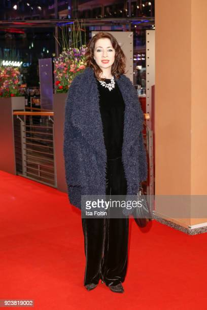German actress Loretta Stern attends the closing ceremony during the 68th Berlinale International Film Festival Berlin at Berlinale Palast on...