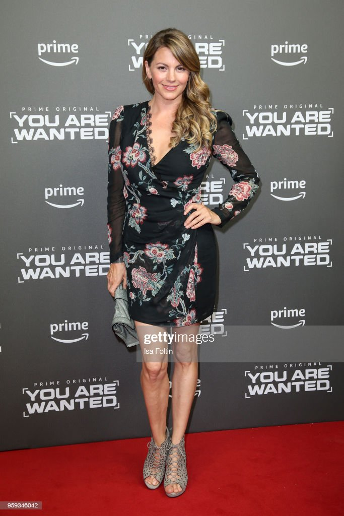 German actress Luise Baehr attends the premiere of the second season of 'You are wanted' at Filmtheater am Friedrichshain on May 16, 2018 in Berlin, Germany.