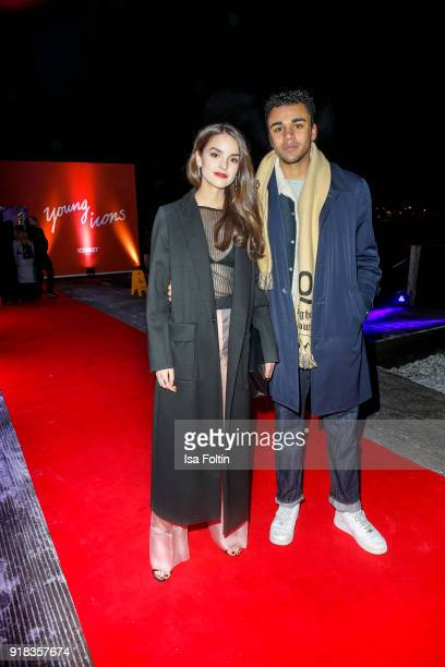German actress Luise Befort and German actor Langston Uibel attend the Young ICONs Award in cooperation with ICONIST at BRLO Brwhouse on February 14...