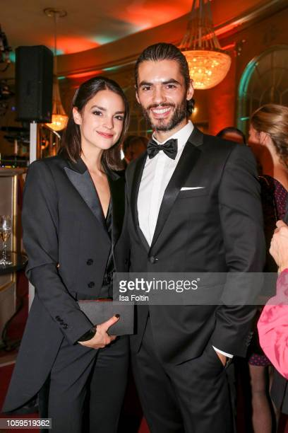 German actress Luise Befort and German actor Nik Xhelilaj attends the GQ Men of the Year Award after show party at Komische Oper on November 8 2018...