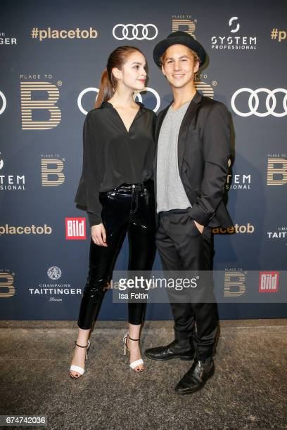 German actress Luise Befort and german actor Tim Oliver Schultz attend the Place To Be Party after the Lola - German Film Award on April 28, 2017 in...
