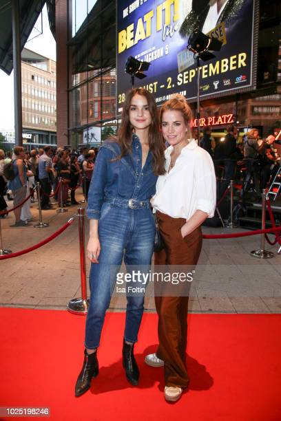 German actress Luise Befort and German actress Merle Collet during the musical premiere of 'BEAT IT! - Die Show ueber den King of Pop' at Stage...