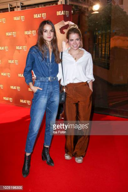 German actress Luise Befort and German actress Merle Collet during the musical premiere of 'BEAT IT Die Show ueber den King of Pop' at Stage Theater...