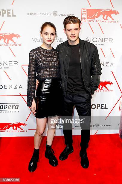 German actress Luise Befort and her boyfriend Eugen Bauder attend New Faces Award Style on November 16 2016 in Berlin Germany