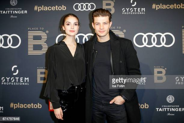German actress Luise Befort and her boyfriend Model and actor Eugen Bauder attend the Place To Be Party after the Lola - German Film Award on April...