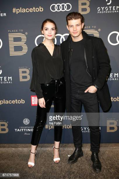 German actress Luise Befort and her boyfriend Model and actor Eugen Bauder attend the Place To Be Party after the Lola German Film Award on April 28...