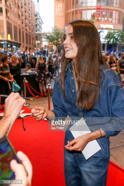 German actress Luise Befort during the musical premiere of 'BEAT IT Die Show ueber den King of Pop' at Stage Theater am Potsdamer Platz on August 29...