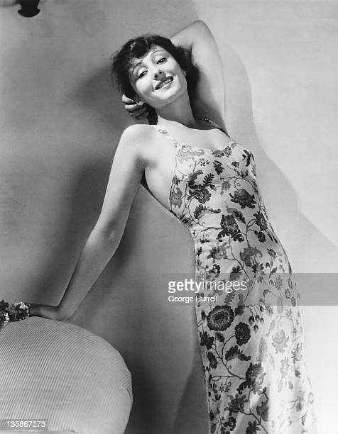 German actress Luise Rainer wearing a floral print summer dress circa 1937 Her latest movie is 'The Good Earth'