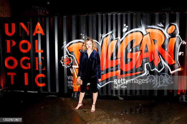 German actress Luise von Finckh at the Unapologetic Night by BVLGARI x Constantin Film at BVLGARI CLVB on February 23 2020 in Berlin Germany