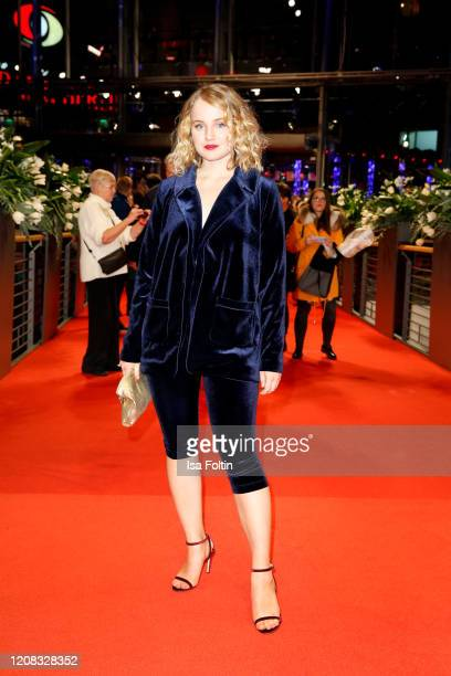 """German actress Luise von Finckh poses at the """"Undine"""" premiere during the 70th Berlinale International Film Festival Berlin at Berlinale Palast on..."""