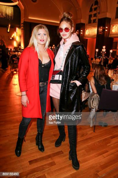 German actress Luna Schweiger and model Elena Carriere attend the German Boxing Awards 2017 on October 8 2017 in Hamburg Germany