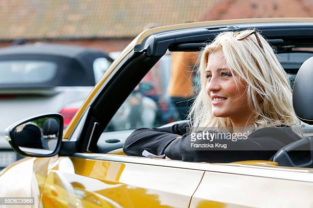 German actress Luna Schweiger attends the 12th Beetle Sunshine Tour To Travemuende the 12th Beetle Sunshine Tour on August 20 2016 in Luebeck Germany
