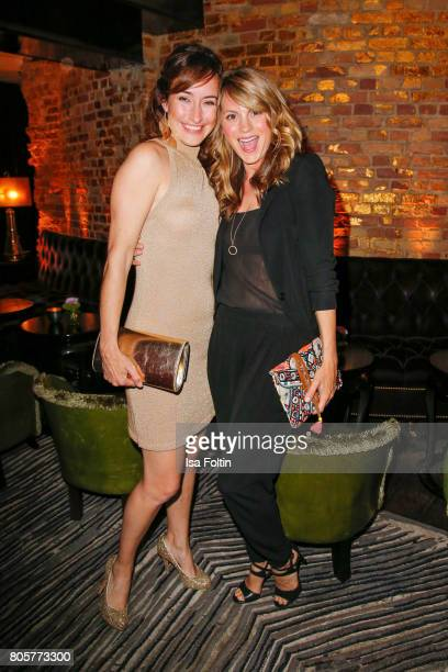 German actress Maike von Bremen and German actress Luise Baehr during the host of Annabelle Mandengs Ladies Dinner at Hotel Zoo on July 2 2017 in...