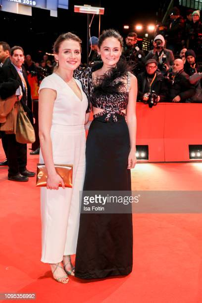 German actress Mala Emde and German actress Lea van Acken attend the opening ceremony and The Kindness Of Strangers premiere during the 69th...