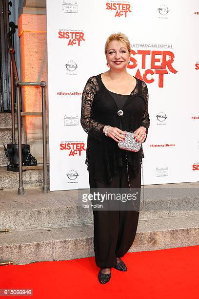 German actress Manon Strache attends the 'Sister Act The Musical' premiere at Stage Theater on October 16 2016 in Berlin Germany