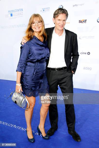 German actress Maren Gilzer and her partner Harry Kuhlmann attend the summer party 2017 of the German Producers Alliance on July 12 2017 in Berlin...