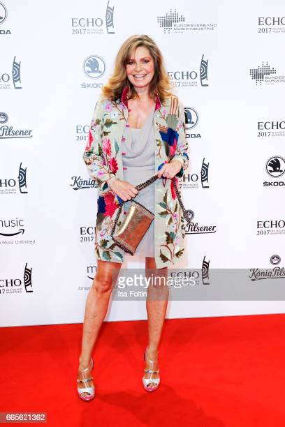 German actress Maren Gilzer during the Echo award red carpet on April 6 2017 in Berlin Germany