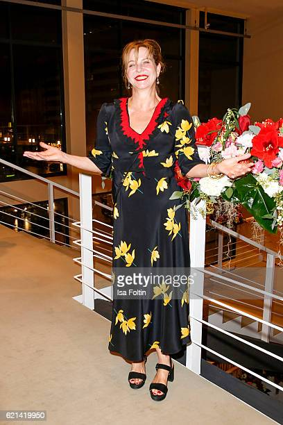 German actress Margarita Broich arrives at the 23rd Opera Gala at Deutsche Oper Berlin on November 5 2016 in Berlin Germany