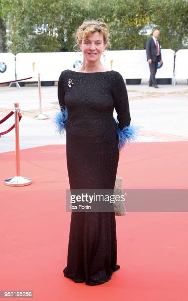 German actress Margarita Broich attends the Lola German Film Award red carpet at Messe Berlin on April 27 2018 in Berlin Germany