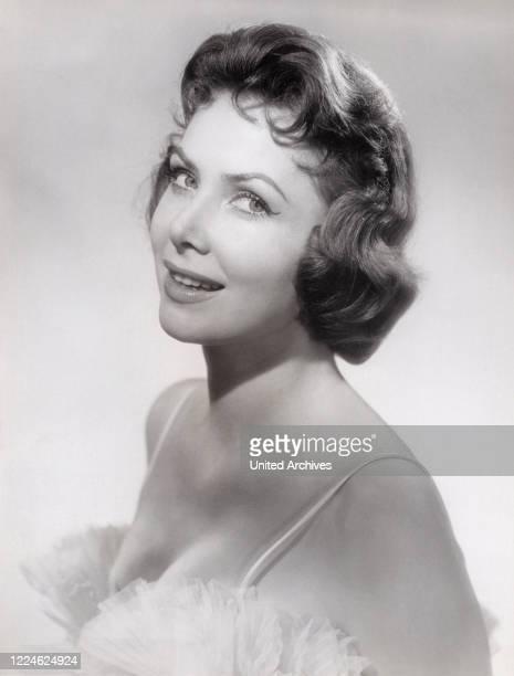 German actress Margit Nuenke, model, former Miss Germany, and Miss Europe , Germany, circa 1955. .