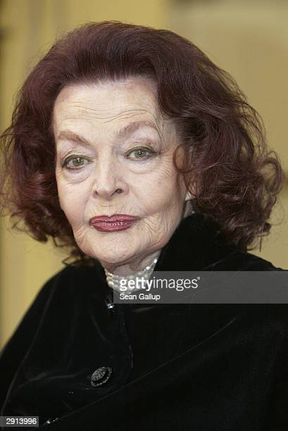 German actress Margot Hielscher arrives at the 2004 DIVA Video Awards on January 29 2004 in Munich Germany