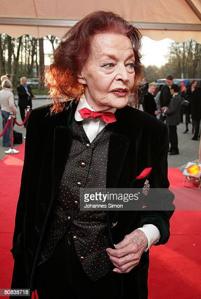 German actress Margot Hielscher arrives for the TVshow 'Congratulations Karlheinz Boehm A Life For Africa' at Bavaria Film television studios on...