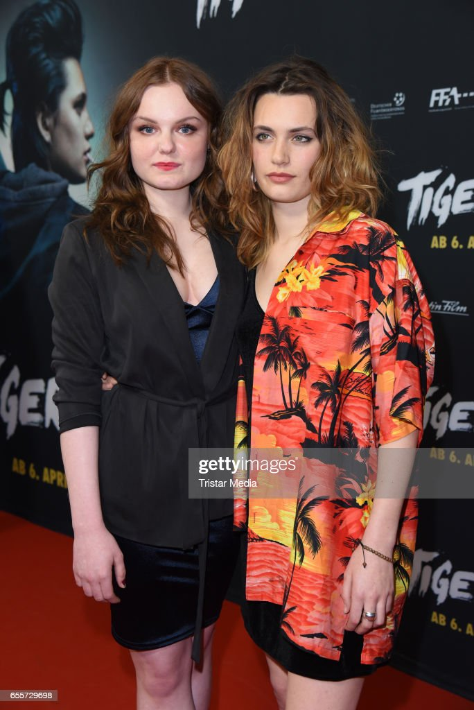 German actress Maria Dragus and german actress Ella Rumpf attend the premiere of the film 'Tiger Girl' at Zoo Palast on March 20, 2017 in Berlin, Germany.