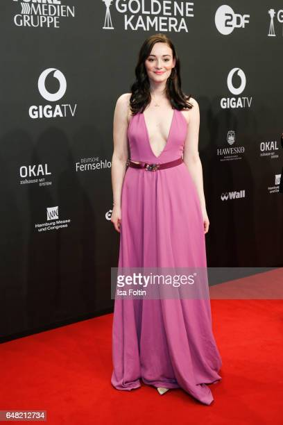 German actress Maria Ehrich arrives for the Goldene Kamera on March 4 2017 in Hamburg Germany