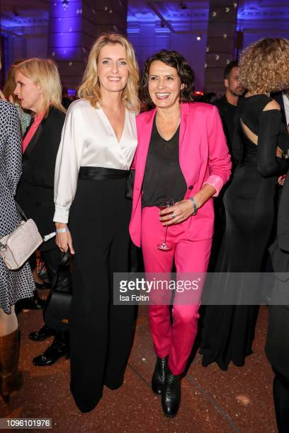 German actress Maria Furtwaengler and German actress Ulrike Folkerts attend the Blue Hour Party hosted by ARD during the 69th Berlinale International...