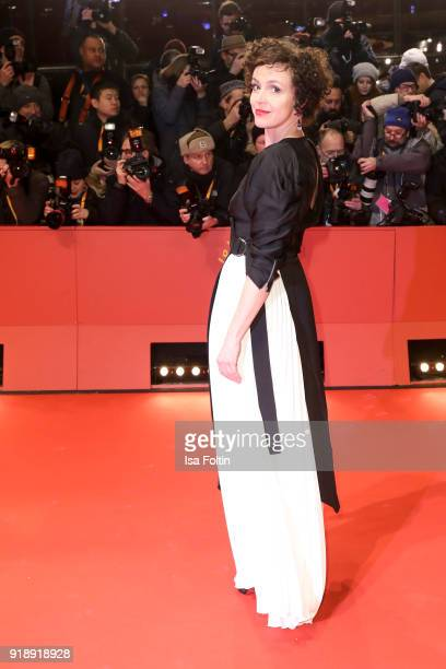 German actress Maria Schrader attends the Opening Ceremony 'Isle of Dogs' premiere during the 68th Berlinale International Film Festival Berlin at...