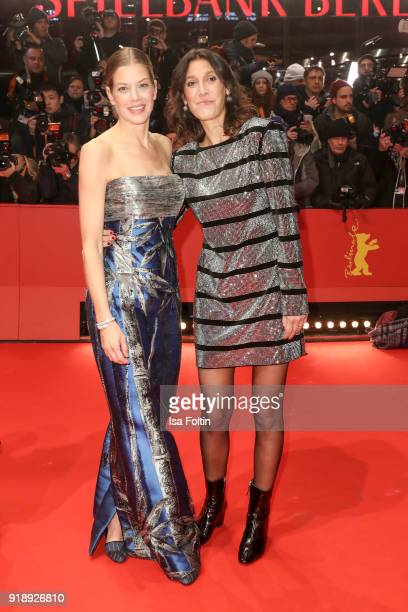 German actress Marie Baeumer and director Emily Atef attend the Opening Ceremony & 'Isle of Dogs' premiere during the 68th Berlinale International...