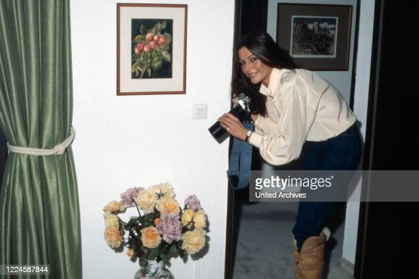 German actress Marie Louise Gassen with camera Germany 1970s