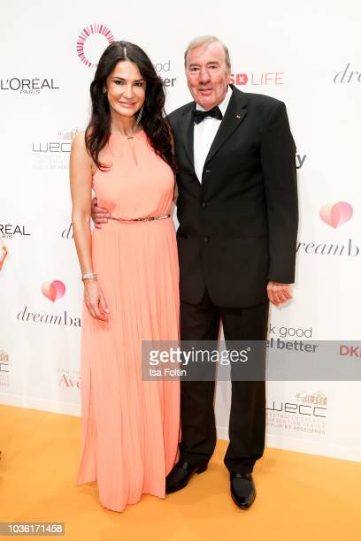 German actress Mariella Ahrens and Frank Fleschenberg attend the Dreamball 2018 at WECC Westhafen Event Convention Center on September 19 2018 in...