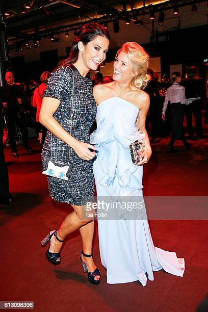 German actress Mariella Ahrens and german moderator Jennifer Knaeble attend the Tribute To Bambi at Station on October 6 2016 in Berlin Germany