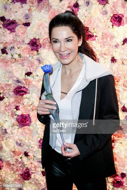 German actress Mariella Ahrens attends the Blaue Blume Awards at Restaurant Grosz on February 6 2019 in Berlin Germany