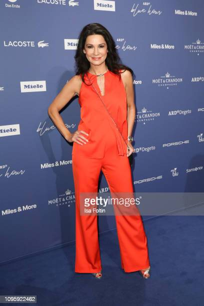 German actress Mariella Ahrens attends the Blue Hour Party hosted by ARD during the 69th Berlinale International Film Festival at Haus der...