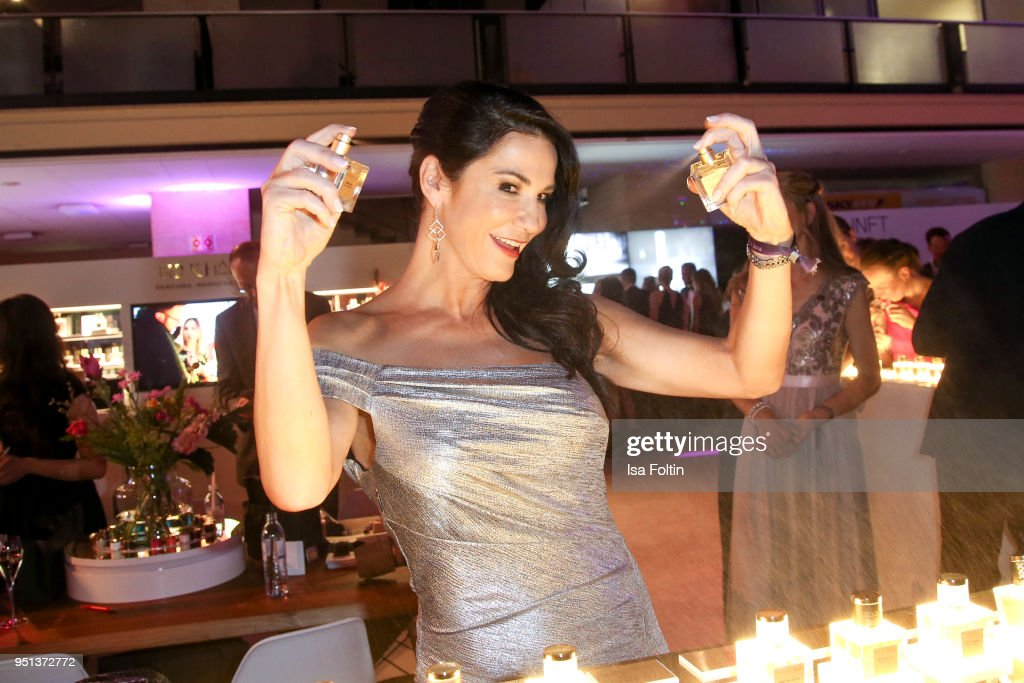 German actress Mariella Ahrens during the after show party of Duftstars at Flughafen Tempelhof on April 25, 2018 in Berlin, Germany.
