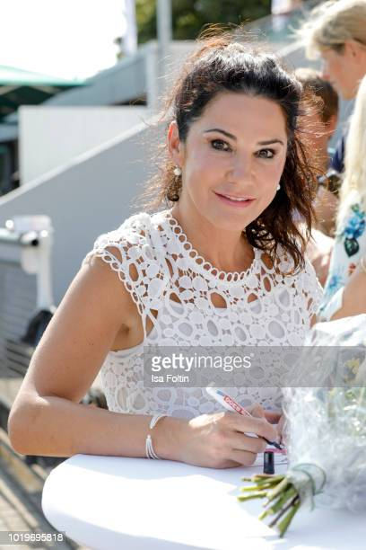 German actress Mariella Ahrens during the Audi Ascot Race Day 2018 on August 19 2018 in Hanover Germany