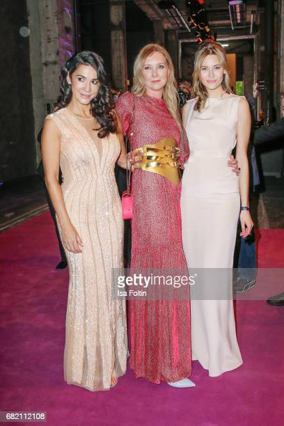 German actress Mariella Ahrens Fashion Designer Jette Joop and Model Mandy Bork attend the Duftstars at Kraftwerk Mitte on May 11 2017 in Berlin...