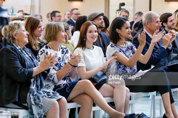 German actress MarieLuise Marjan Maike Roettger CEO Plan International Germany German actress Emilia Schuele German news anchor Charlotte Maihoff and...