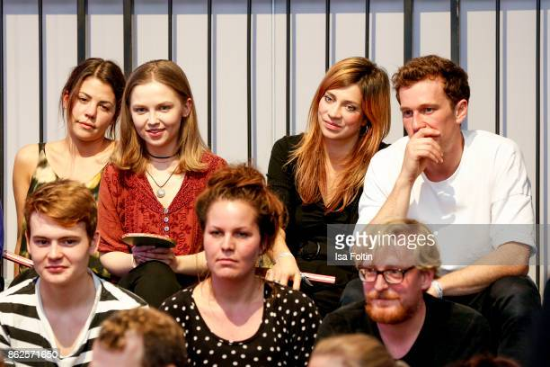 German actress Marija Mauer German actress Claudia Eisinger and German actor Artjom Gilz attend the Clich'e Bashing 'Beef mit den Veggies' at DRIVE...
