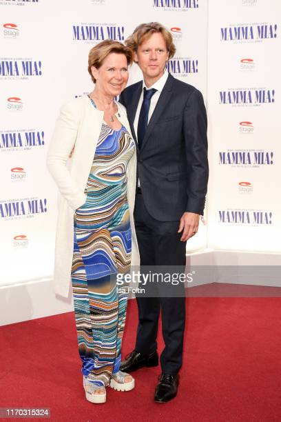 "German actress Marion Kracht and her husband Berthold Manns at the premiere of ""Mamma Mia! - Das Musical"" at Stage Theater des Westens on September..."