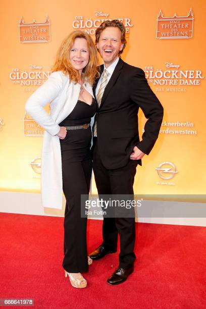 German actress Marion Kracht and her husband Berthold Manns attend the premiere of the musical 'Der Gloeckner von Notre Dame' on April 9 2017 in...