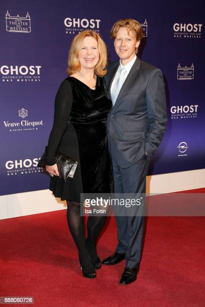 German actress Marion Kracht and her husband Berthold Manns during the premiere of 'Ghost - Das Musical' at Stage Theater on December 7, 2017 in...