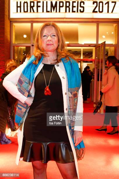 German actress Marion Kracht arrives at the Deutscher Hoerfilmpreis at Kino International on March 21, 2017 in Berlin, Germany.