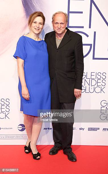 German actress Martina Gedeck and german actor Ulrich Tukur attend the 'Gleissendes Glueck' Premiere on October 18 2016 in Hamburg Germany