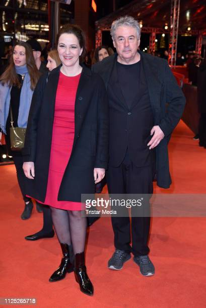 German actress Martina Gedeck and her husband Markus Imboden arrive for the closing ceremony of the 69th Berlinale International Film Festival Berlin...