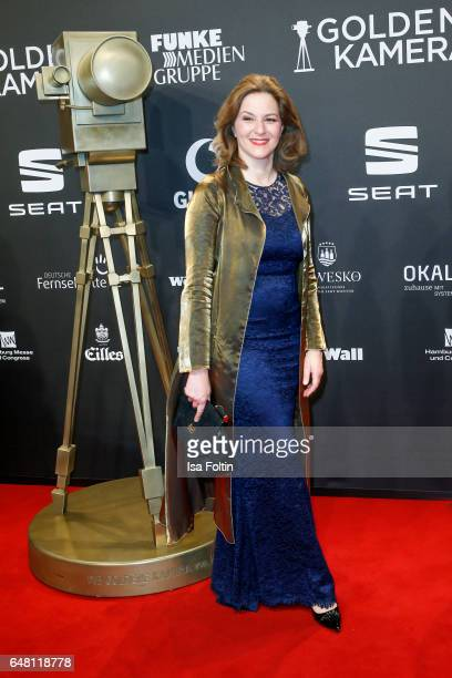 German actress Martina Gedeck arrives for the Goldene Kamera on March 4 2017 in Hamburg Germany